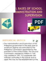 Legal Bases of School Administration and Supervision