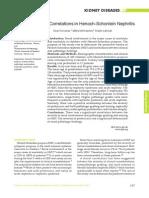 Clinicopathologic Correlations in Henoch-Schonlein Nephritis