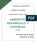 Ambiente, Desarrollo y Sociedad 6º