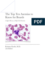 Top 10 anemias to know for Boards
