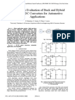 Comparative Evaluation of Buck and Hybrid Buck DC-DC Converters for Automotive Applications