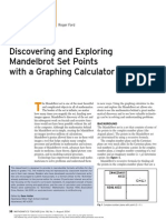 activities for students discovering and exploring mandelbrot set points with a graphing calculator