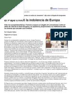 Página_12 __ El Mundo __ El Papa Criticó La Indolencia de Europa