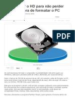 Dividir o HD Para Não Perder Dados Na Hora de Formatar o PC