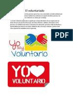 El Voluntariado El Voluntariado Es El Tra