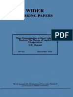Wage Dwage determination in rural labour marketsetermination in Rural Labour Markets