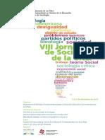 VIII Jornadas Sociologia UNLP - Programa
