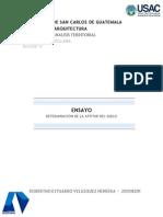 Determinación de la aptitud del suelo en Guatemala