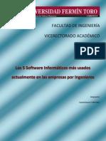 Los 5 Software mas utilizados actualmente en Ingenieria