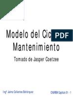 Modelo del ciclo de mantenimiento
