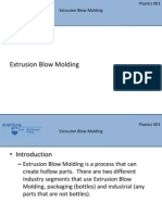 Lesson 3 Extrusion Blow Molding