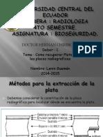 Recuperacion de Plata de Las Placas Radiograficas