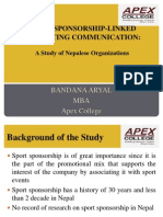 GRP Presentation- Sport Sopnsorship in Nepal