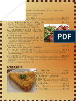 InDesign Menu Project