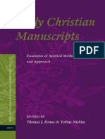 Thomas J. Kraus, Tobias Nicklas Early Christian Manuscripts Examples of Applied Method and Approach 2010