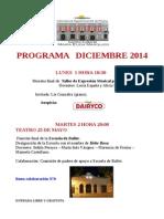 Programa Diciembre 2014