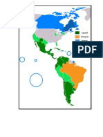 Mapa Lenguas Romance América