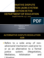 Alternative Dispute Resolution (Adr) System-mediation In
