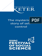 Self Control - Exeter Science Festival