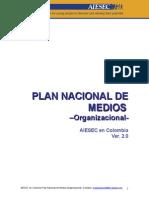 Plan de Medios Organizacional Colombia[1]