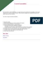 Tekla User Assistance - Creating a Report of Nested Assemblies - 2013-03-09