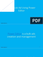 Facebook Ad Using Power Editor