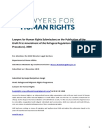 Submissions from Lawyers for Human Rights on the Publication of the Draft First Amendment of the Refugees Regulations (Forms and Procedure), 2000