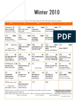 Lecture Schedule Winter 2010