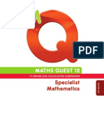 Maths Quest Specialist 12 Textbook 4E TI-Nspire CAS Companion