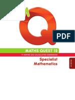 Maths Quest Specialist 12 Textbook 4E TI-Nspire CAS Companion