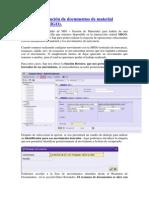 66 - Retención de Documentos de Material (Transacción MIGO)