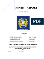 Separation BASIC CHEMISTRY Report