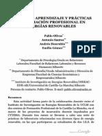 Estilos de Aprendizaje y prácticas de formación profesional en energias renovables