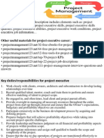 Project Executive Job Description