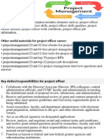 Project Officer Job Description