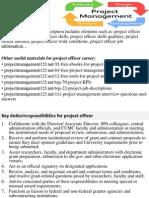 Project Officer Job Description