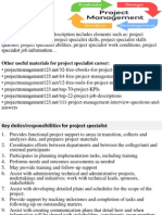 Project Specialist Job Description