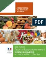 Favoriser l'approvisionnement local et de qualité en restauration collective