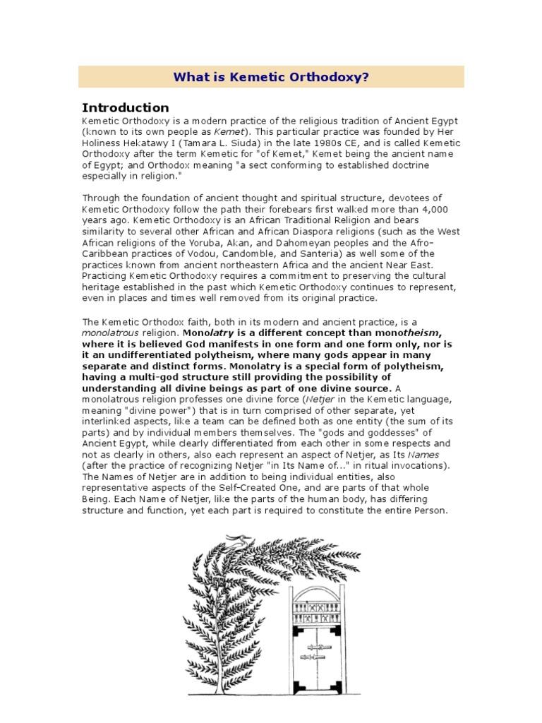 What is Kemetic Orthodoxy | Eastern Orthodox Church | Polytheism