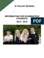 Exam Booklet 2014-15