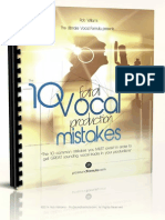 The 10 Fatal Vocal Production Mistakes
