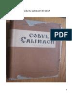 Codul Lui Calimach Din 1817