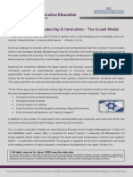 SLI – Strategic Leadership & Innovation - The Israeli Model