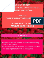 Tsl3107!6!1 Planning for Teaching Writing