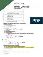 VCE Psychology Revision 1-3