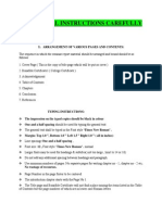 Format of Seminar Report and Instructions