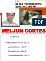 MELJUN CORTES Computer Organization Lecture Chapter15 Troubleshooting WinXP