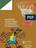 Programa Tecnico Para La Iniciacion Del Baloncesto