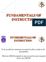 Fundementals of Instruction