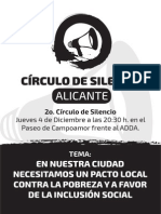Circulo de Silencio Alicante 4-12- 2014